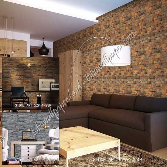 05 Wallpaper dinding kamar Stone Art