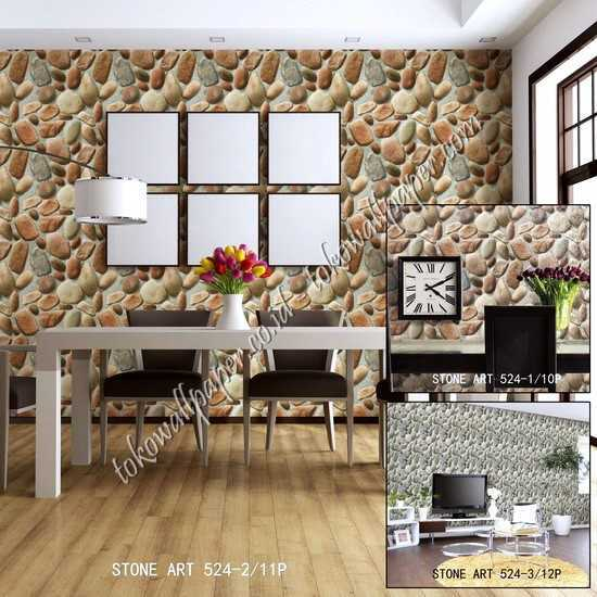 10 Wallpaper dinding kamar Stone Art
