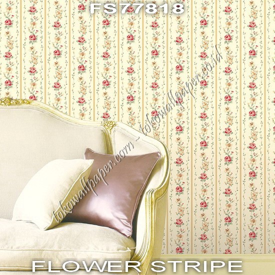 Supplier Wallpaper Dinding Flower Stripe