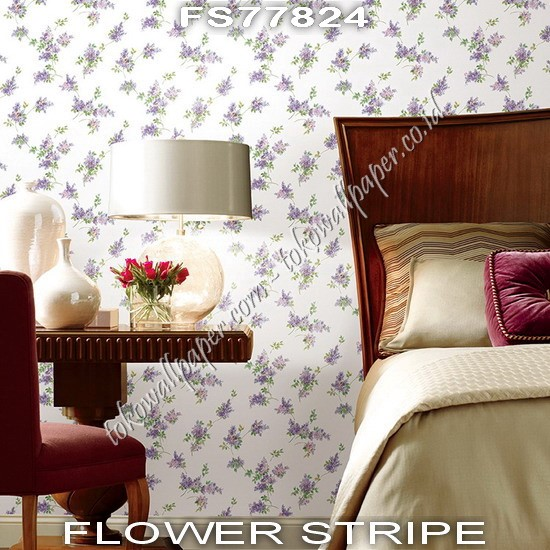 Distributor Wallpaper Flower Stripe